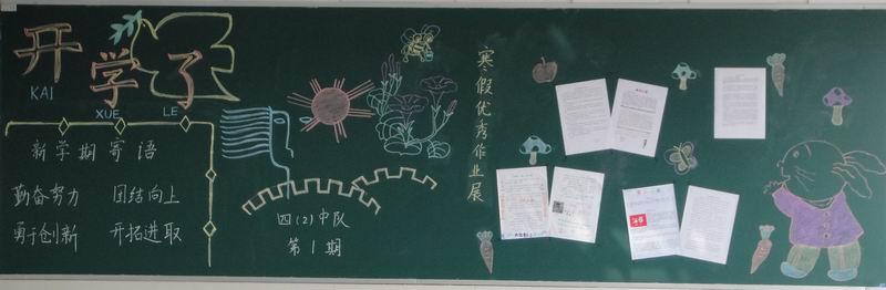 小学教室黑板报布置